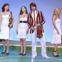 Violonistul lui Plushenko canta la Bucuresti