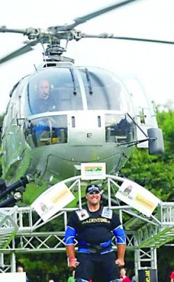 Cu elicopterul pe umeri
