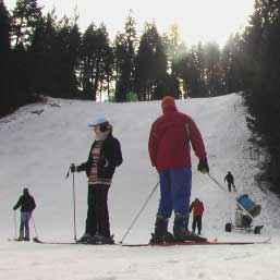 Zapada de schi pentru o luna