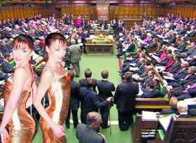 Cheeky Girls, subiect in Parlament
