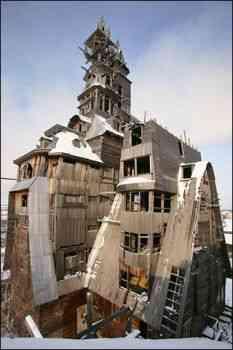 Casa din lemn cu 15 etaje